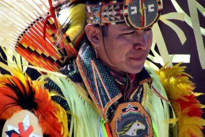 Grand Canyon Hualapi Indian Dancing in full regalia