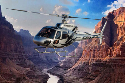 5 Star Helicopter Flying Over Grand Canyon West Rim