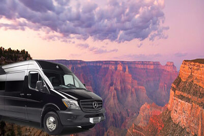 Mercedes Sprinter Overlay with Grand Canyon South Rim