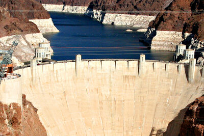 Hoover Dam Areal view