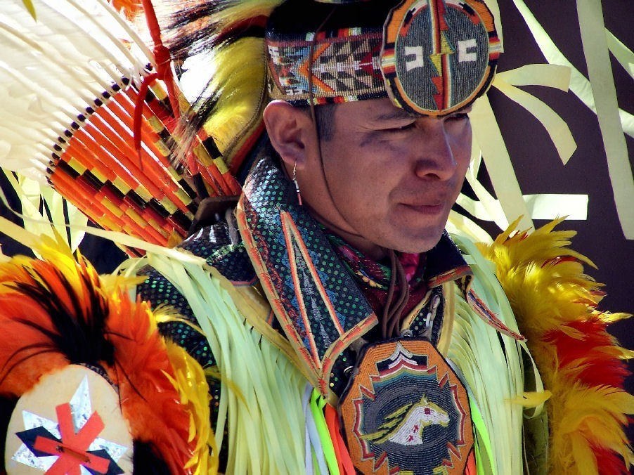 Grand Canyon Hualapi Indian Dancing in full regalia