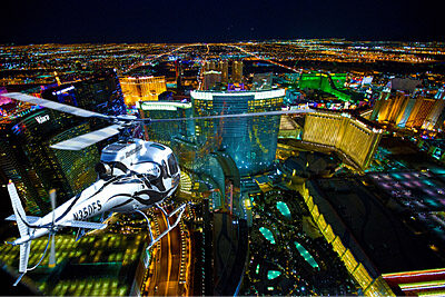 5 Star Helicopter Over Las Vegas at Night