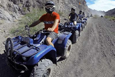 ATV Riders in Formation Ad