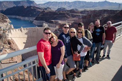 Group on Memorial Bridge Over Looking Hoover Dam