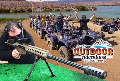 Guest Shooting with Machine Gun and ATV Riders
