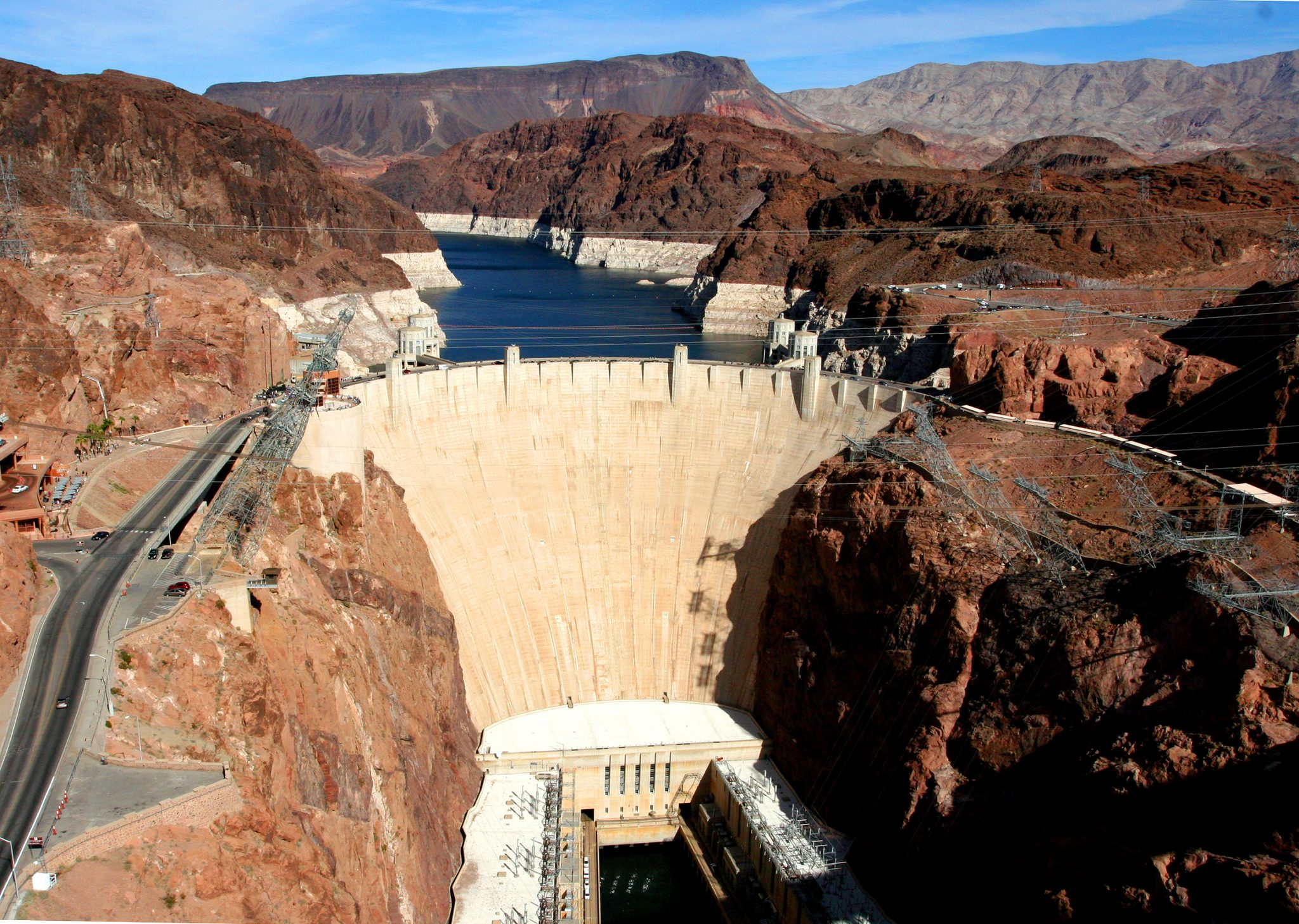 Hoover Dam areial view