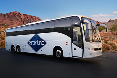 Grey Lines Bus for Las Vegas City Tour