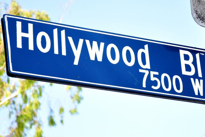 Hollywood Street Sign