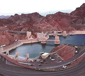 Hoover Dam from Arizona Lookout