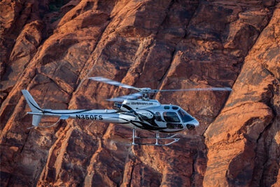 5 Star Helicopter Soaring Over Grand Canyon