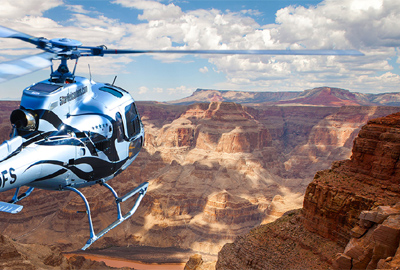 5 Star Helicopter Soaring over Grand Canyon West Rim Indian Adventure