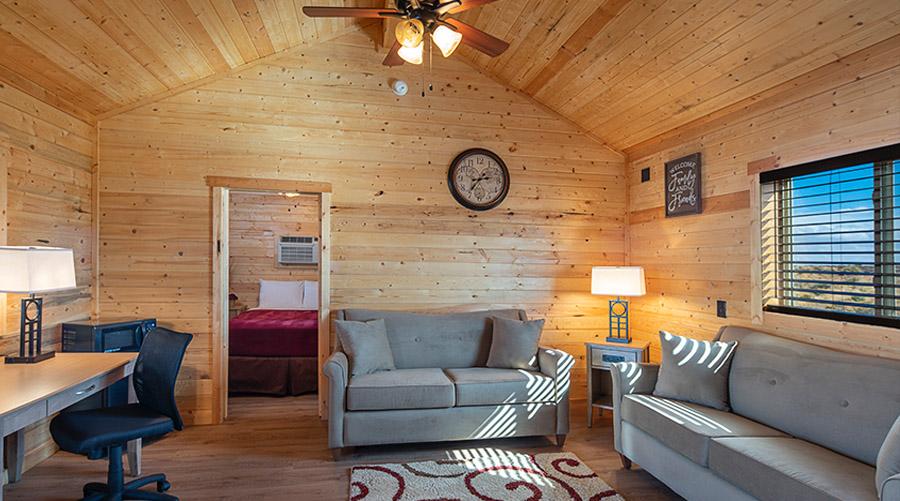 Cabin Interior at Hualapi Indian Ranch