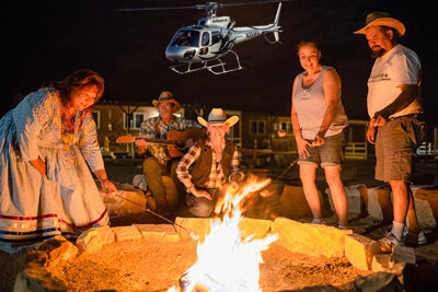 Camp Fire At Grand Canyon Hualapai Ranch