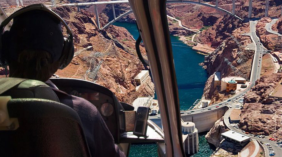 Interior View of Helicopter Over Hoover Dam 5 Star Helicopter