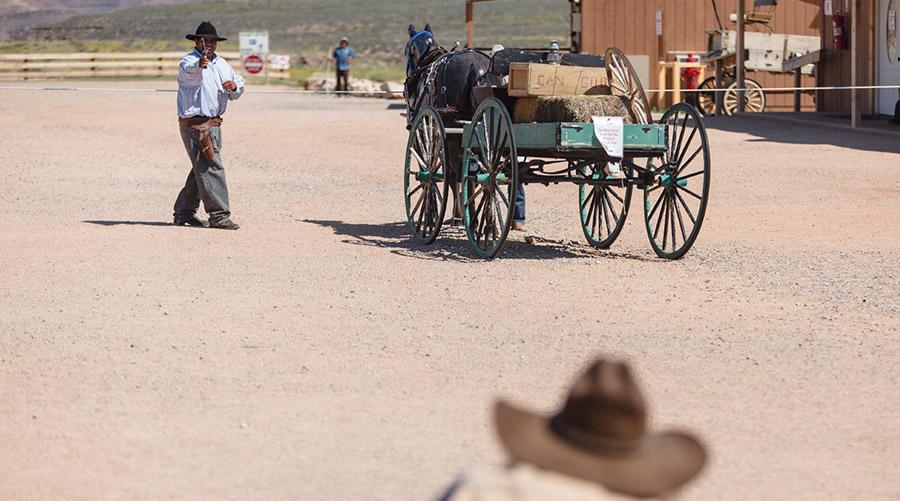 Old Western Gun Fight at Hualapai Ranch