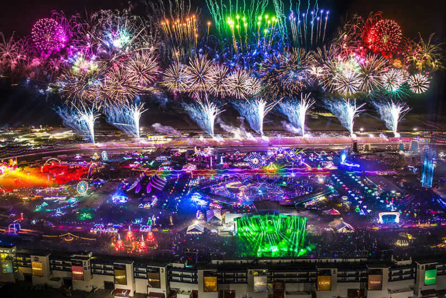 Aerial View Electric Daisy
