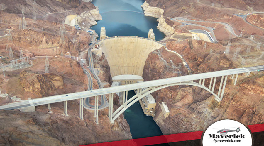 Aerial View of Hoover Dam