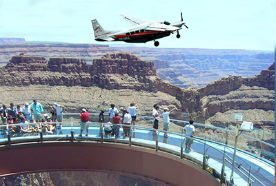Aerial View of Skywalk with Airplane overhead 400 x 270