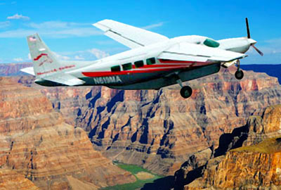 Cessna Grand Caravan Soaring over Grand Canyon