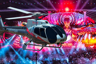 Electric Daisy Carnival with Maverick Helicopter