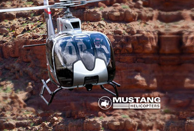 Grand Canyon Landing Mustang Helicopter