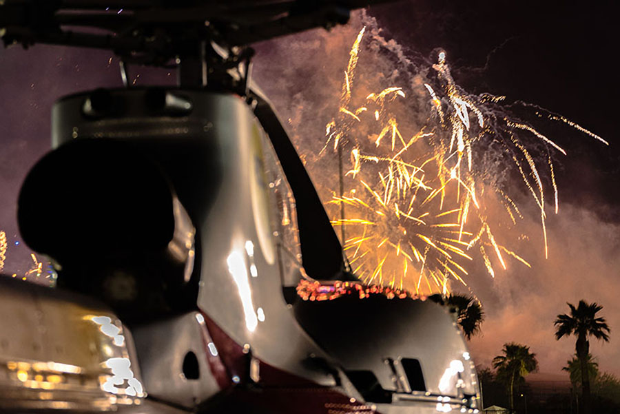 Helicopter and Celebration Electric Daisy