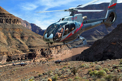 Maverick Helicopter Landing at Grand Canyon Indian Country