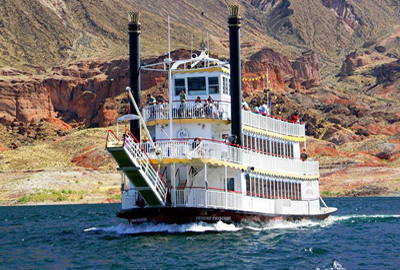 Desert Princess Paddle Wheel Boat On Lake Mead