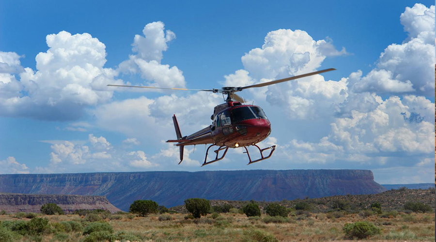 Grand Canyon Helicopter Landing 900 x 500