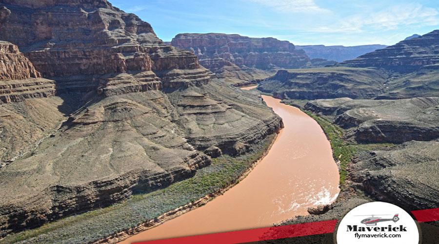 Grand Canyon West Rim Colorado River Aerial View