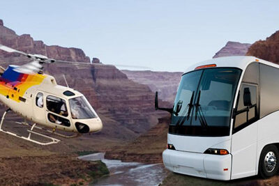 Grand Canyon West Rim Helicopter and Bus Overlay