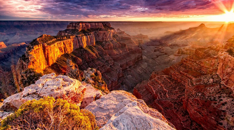 Grand Canyon West Rim Sunrise 900 x 500