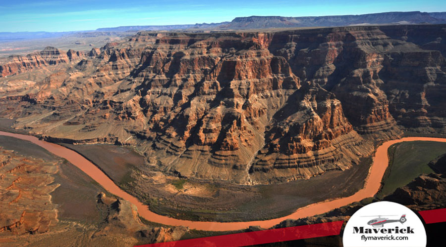 Aerial View Of Colorado River at Grand Canyon West Rim