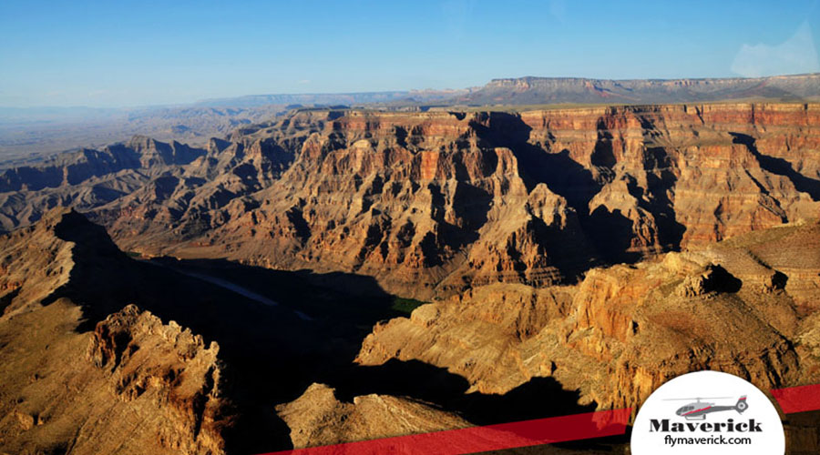 Grand Canyon West Rim aerial View