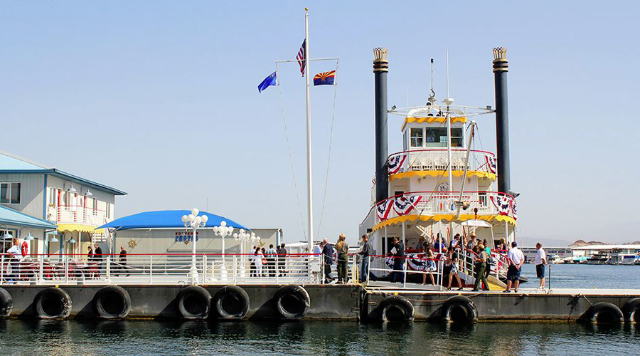 Dessert Princess Paddle Wheel Boat Docked at Lake Mead