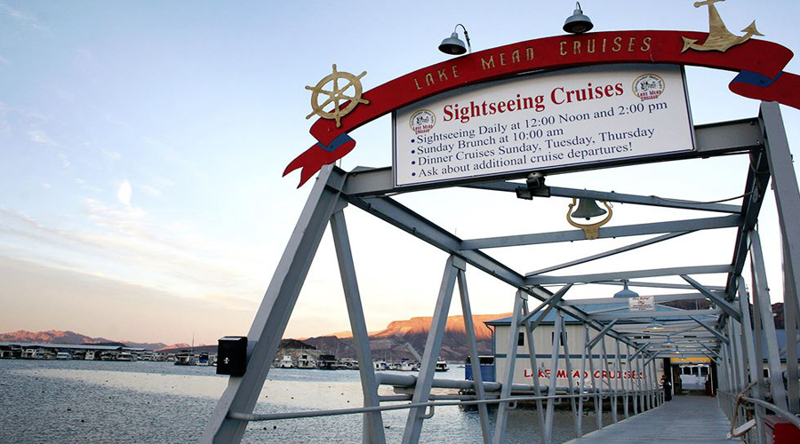 Gangway sign to Desert Princess Paddle Wheel Boat Cruise