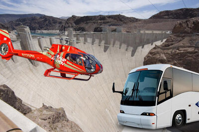 Helicopter and Bus at Hover Dam
