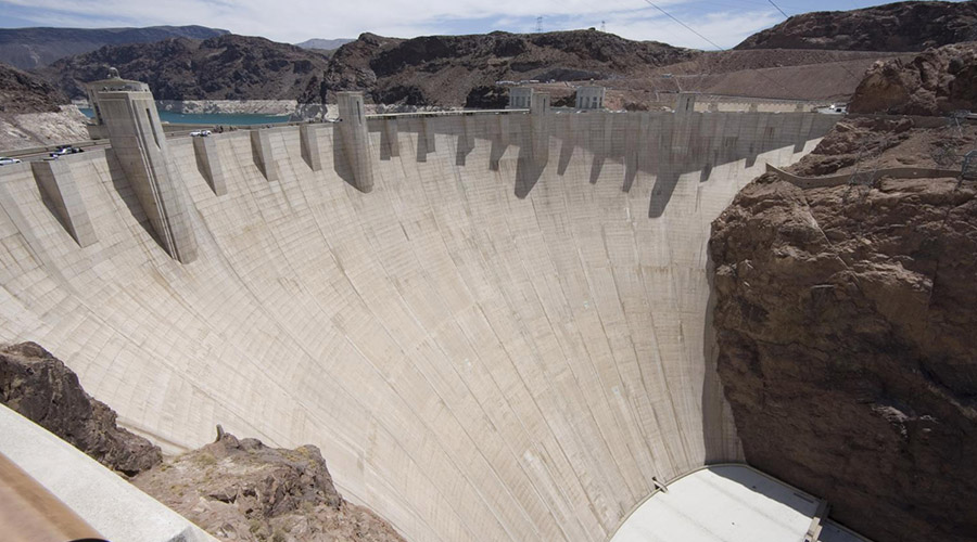Hoover Dam Wide Retaining Wall