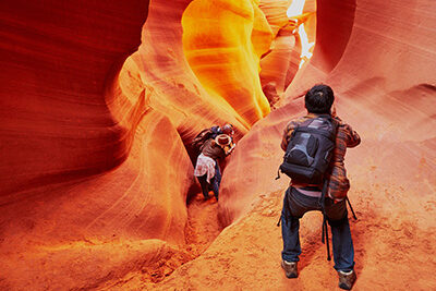 Antelope Canyon and Photographer