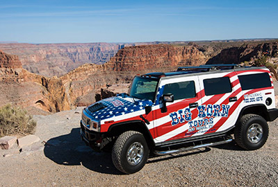 Big Horn Hummer off-road to Grand Canyon West Rim
