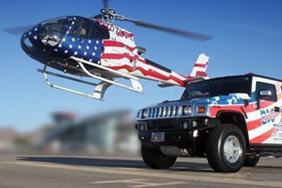 Big Horn Hummer with Helicopter