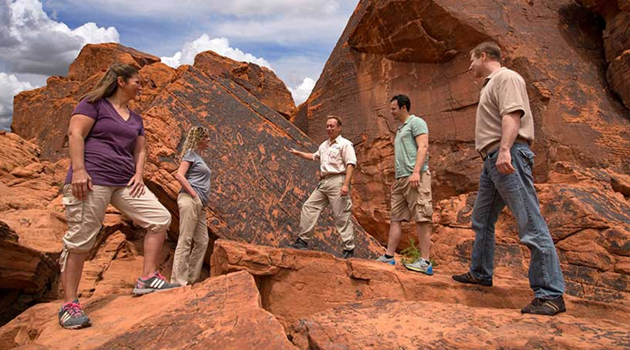 Discover the secrets of ancient petroglyphs at Atlatl Rock Valley of Fire State Park