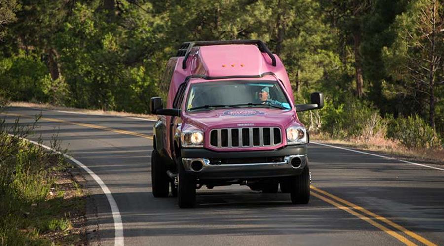 Pink Jeep Custom Trekker