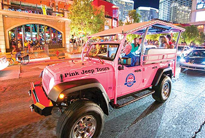 Pink Jeeps Land See and Air Tour on Las Vegas Strip
