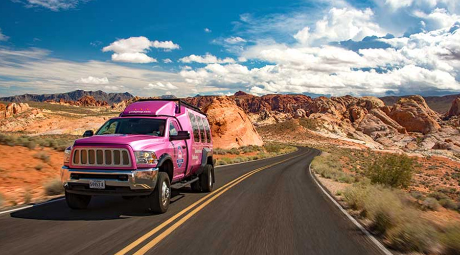 Pink Jeep Trekker and the Valley of Fire Day Tour