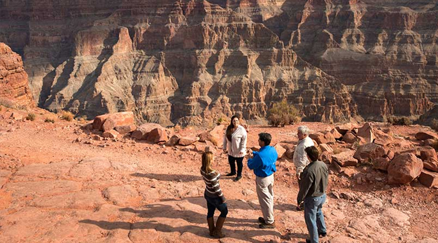 Pink Jeep guide with guest at Grand Canyon West Rim 2