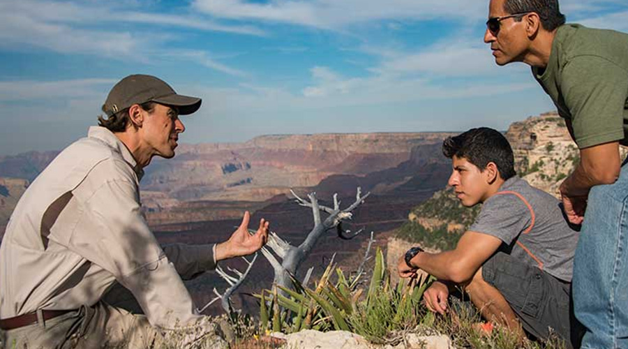 Pink Jeep guide with guest at Grand Canyon West Rim 3