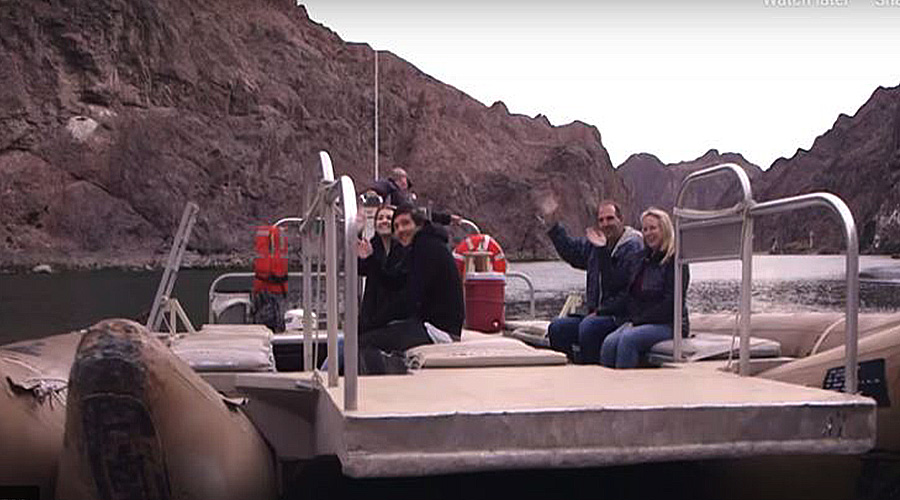 Rafting the bottom of hoover Dam