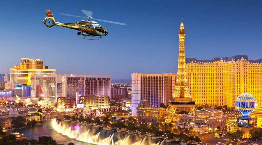 Sundance Helicopter Night Flight Over Las Vegas