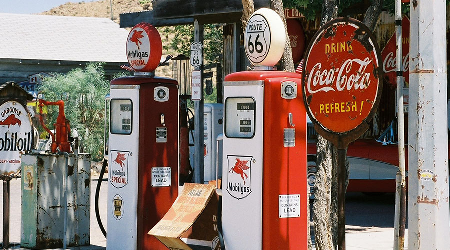 Vintage Gas Pumps at General Store on Route 66